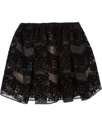 RED Valentino Floral Jacquard Skirt - Lyst
