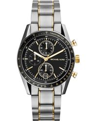 Michael Kors Mens Chronograph Accelerator Two-tone Stainless Steel Bracelet Watch 38mm - Lyst