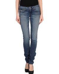 True Religion Blue Denim Pants - Lyst