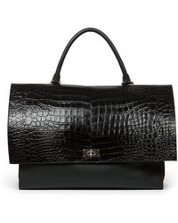 Givenchy Crocodile-Embossed Medium Shoulder Bag - Lyst
