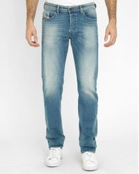 DIESEL | Light Blue Buster Pr Slim-fit Jeans | Lyst