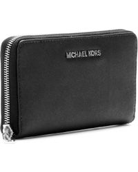 Michael by Michael Kors Jet Set Leather Wallet - Lyst