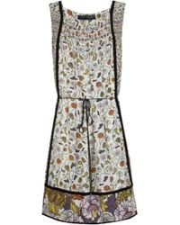 Proenza Schouler Smocked Floral Dress - Lyst
