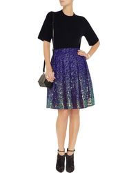 Matthew Williamson Embroidered Gauze Skirt - Lyst