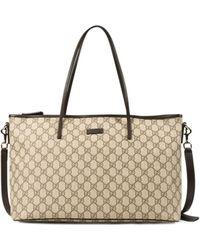 Gucci Brown Shopping Bag - Lyst