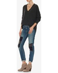 Feel The Piece - V Neck Sweater: Grey - Lyst