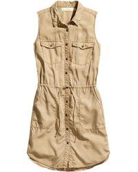 H&M Lyocell Dress - Lyst