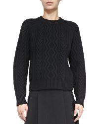 Proenza Schouler Cashmere Cable Sweater - Lyst