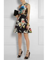 Clements Ribeiro - Andrea Lacepaneled Printed Cotton and Silkblend Twill Mini Dress - Lyst