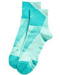 Nike 'Elite' Lightweight Quarter Running Socks - Lyst