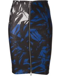 Yigal Azrouel Printed Pencil Skirt - Lyst