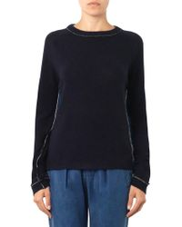 M.i.h Jeans - The Westy Contrast-back Sweater - Lyst