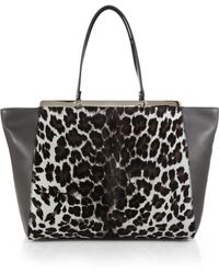 Furla Exclusively For Saks Fifth Avenue Cortina Leopard-Print Calf Hair & Leather Tote - Lyst