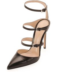 Gianvito Rossi Ladder-strap Mary Jane Pump - Lyst