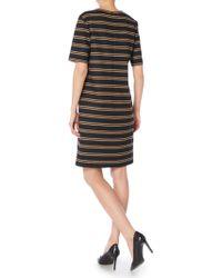 BOSS | Harrietta Double Stripe Wool Dress | Lyst