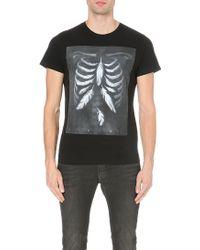 Diesel Printed Cotton T-shirt Black - Lyst