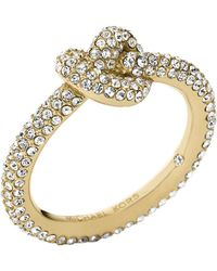 Michael Kors Knotted Encrusted Ring - Lyst
