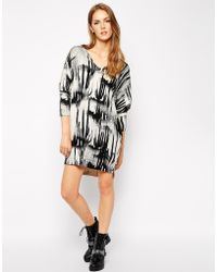 Diesel Cactus Print Knitted Sweater Dress - Lyst
