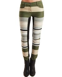 3.1 Phillip Lim Ponte Inset Skinny Jeans - Lyst