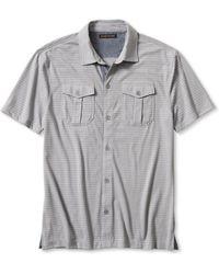 Banana Republic Textured Utility Shirt - Lyst