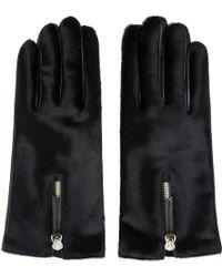 Want Les Essentiels De La Vie - Black Calf-hair & Leather Mozart Gloves - Lyst