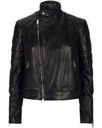Ralph Lauren Black Label Leather Circuit Biker Jacket - Lyst