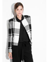 Mango Bicolor Tweed Jacket - Lyst