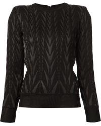 Balmain Zig-Zag Knit Sweater - Lyst