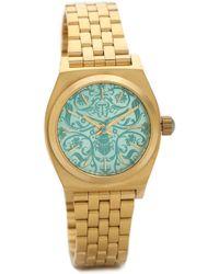 Nixon Small Time Teller Watch - Goldblue - Lyst