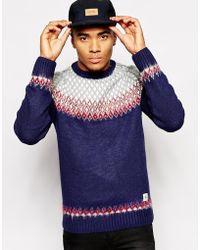 Bellfield Sweater with Brushed Yarns  Diamond Fairisle Jacquard - Lyst
