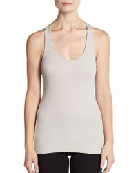 James Perse Ribbed Scoopneck Tank - Lyst