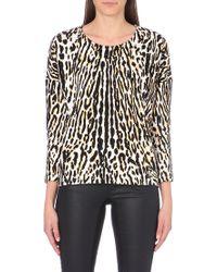 Maje Leopard-printed Sweatshirt - Lyst