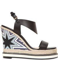 Nicholas Kirkwood 120Mm Silk Satin & Leather Wedge Sandals - Lyst