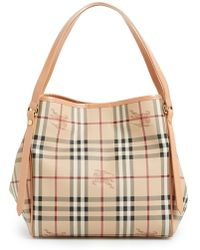Burberry Women'S 'Haymarket Check - Small Canterbury' Tote - Pink - Lyst