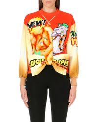 Moschino Cheese Puff Bowdetail Sweatshirt Multi - Lyst