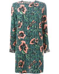 Matthew Williamson Mixed-Print Silk Shift Dress - Lyst