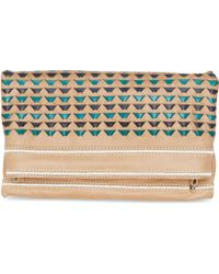 TOMS - Buff Woven Leather Postscript Crossbody - Lyst