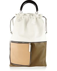 Marni Convertible Color-Block Leather Tote - Lyst