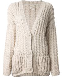 Nude - Chunky Knit Cardigan - Lyst