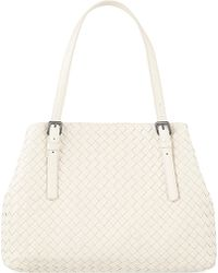 Bottega Veneta Intrecciato Leather Tote - For Women - Lyst