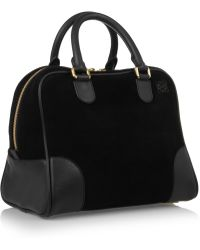 Loewe Amazona 75 Suede and Leather Tote - Lyst