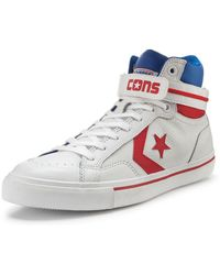 Converse Pro Blaze Plus Leather Trainers Whiteredblue - Lyst