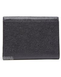 Chanel Preowned Black Caviar Trifold Envelope Wallet - Lyst