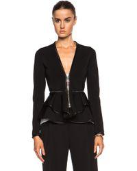 Givenchy Ruffled Zip Polyamide-Blend Jacket - Lyst