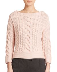 Weekend by Maxmara Rana Cable-Knit Sweater - Lyst