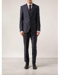 Boss by Hugo Boss Blue Three-piece Suit - Lyst