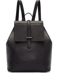 Mackage - Black Leather Kai Backpack - Lyst