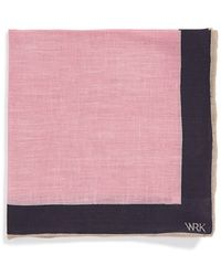 W.r.k. - Solid Linen Pocket Square - Lyst