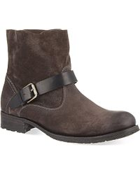 NDC Biker Low Suede Ankle Boots - Lyst