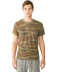 Alternative Apparel Basic Printed Eco-Jersey Crew T-Shirt - Lyst